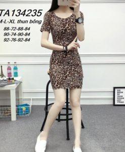 Đầm body họa tiết da beo - GV08A