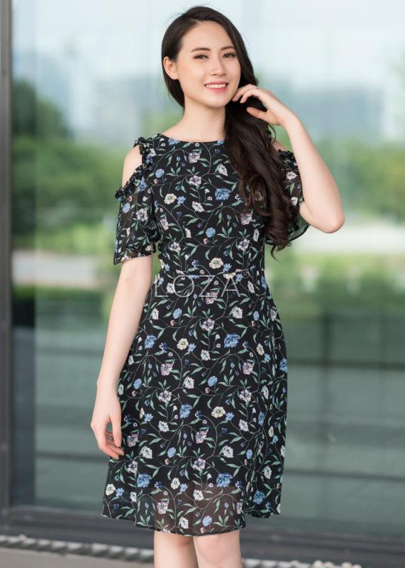 Đầm xèo hoa cao cấp 580