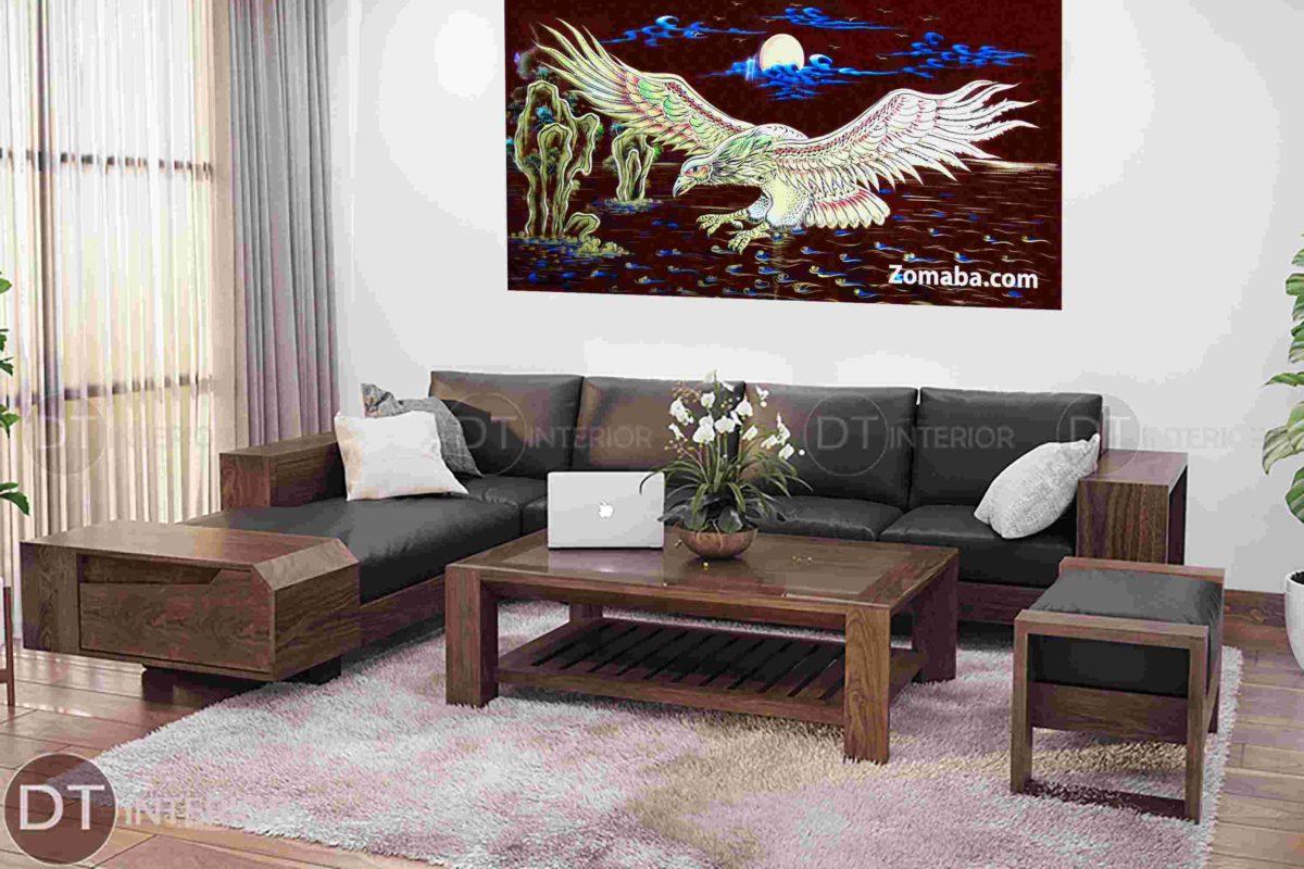 Tranh sơn mài treo phòng khách - TRANH SƠN MÀI CHIM ĐẠI BÀNG 1