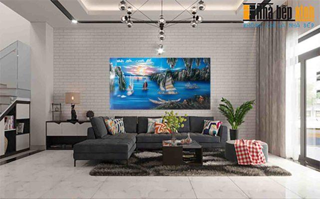 Tranh sơn mài Thuận buồn xuôi gió - giá tốt tại Malanaz Shopping sale toàn quốc