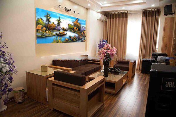Tranh sơn mài phong cảnh - Tranh đông quê - Malanaz Shopping - Sale online