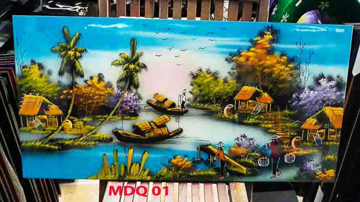 Tranh sơn mài đồng quê việt nam - Tranh đồng quê - Malanaz Shopping - sale off