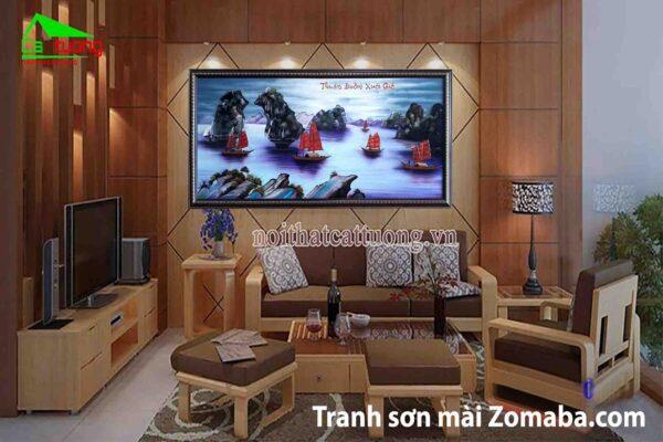 Tranh sơn mài Thành lễ - Tranh thuận buồm xuôi gió - Malanaz Shopping - sale