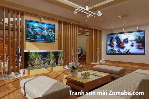 Tranh sơn mài Thành lễ - Tranh thuận buồm xuôi gió - Malanaz Shopping - sale trên toàn quốc