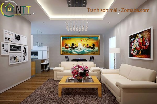 Tranh sơn mài mã đáo thành công - NMT01 - ABCDF