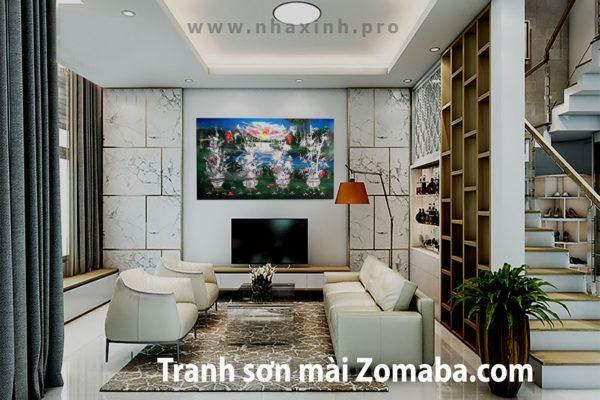 Tranh sơn mài mai lan cúc trúc - Cẩn ốc - Malanaz Shopping sale
