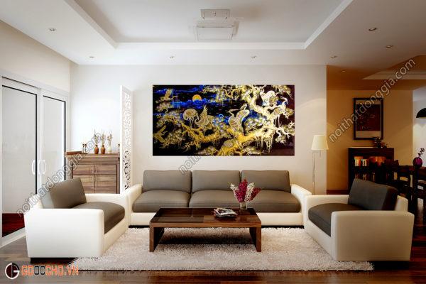 Tranh sơn mài tặng tân gia - tùng hạc diêm niên - Malanaz Shopping - Cung cấp các loại tranh.