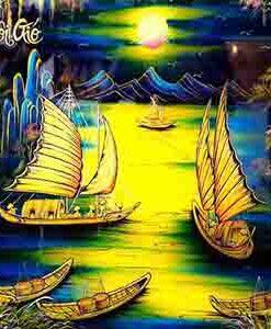 Tranh treo tường - Tranh thuận buồm xuôi gió 60 x 120 cm small