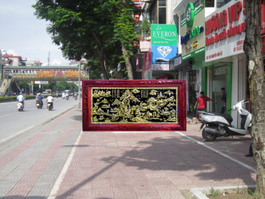 Tranh tặng khai trương tphcm - Tranh đồng quê TDDQ03