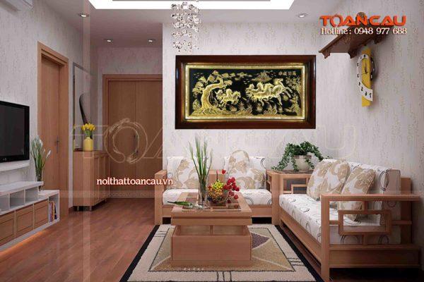 Tranh đồng mỹ nghệ - Tranh đồng mã đáo thành công -TDMD05 - Malanaz shopping