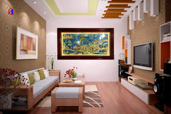 Mua tranh tặng tân gia nhà mới - Tranh đồng quê TDDQ01 - Malanaz shopping