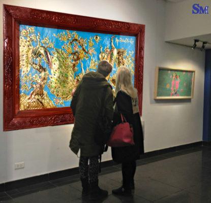 Tranh tặng tân gia - Tranh đồng nghệ thuật công - TDC01 - Malanaz shopping sale off