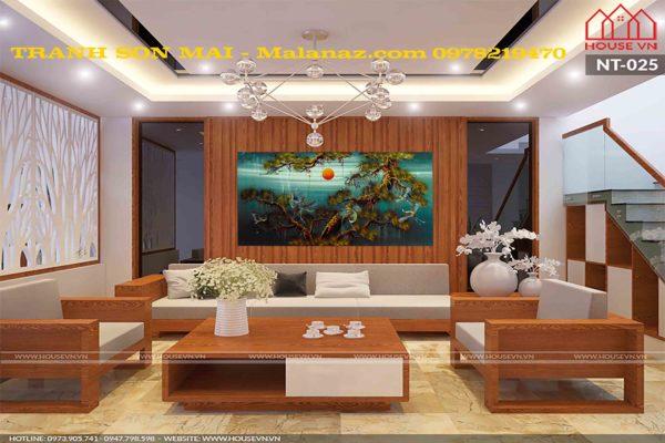 Tranh sơn mài tùng hạc -THNXX01 - Malanaz - shopping