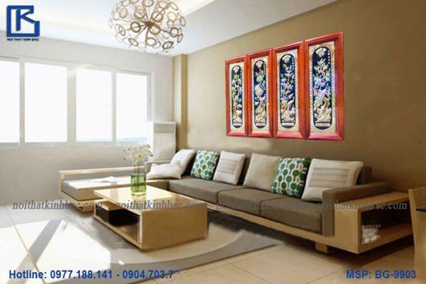 tranh tu quy TDTQ02-AB - Malanaz shopping