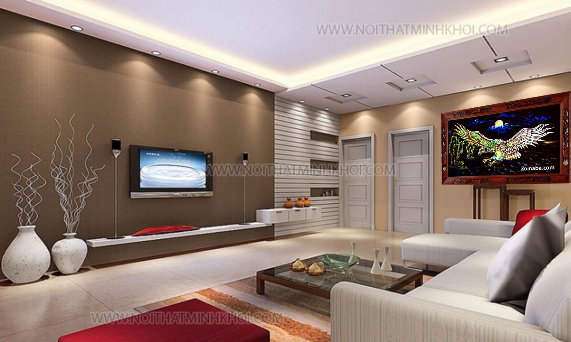 Tranh tặng tân gia nhà mới tphcm - Tranh sơn mài - Malanaz.com