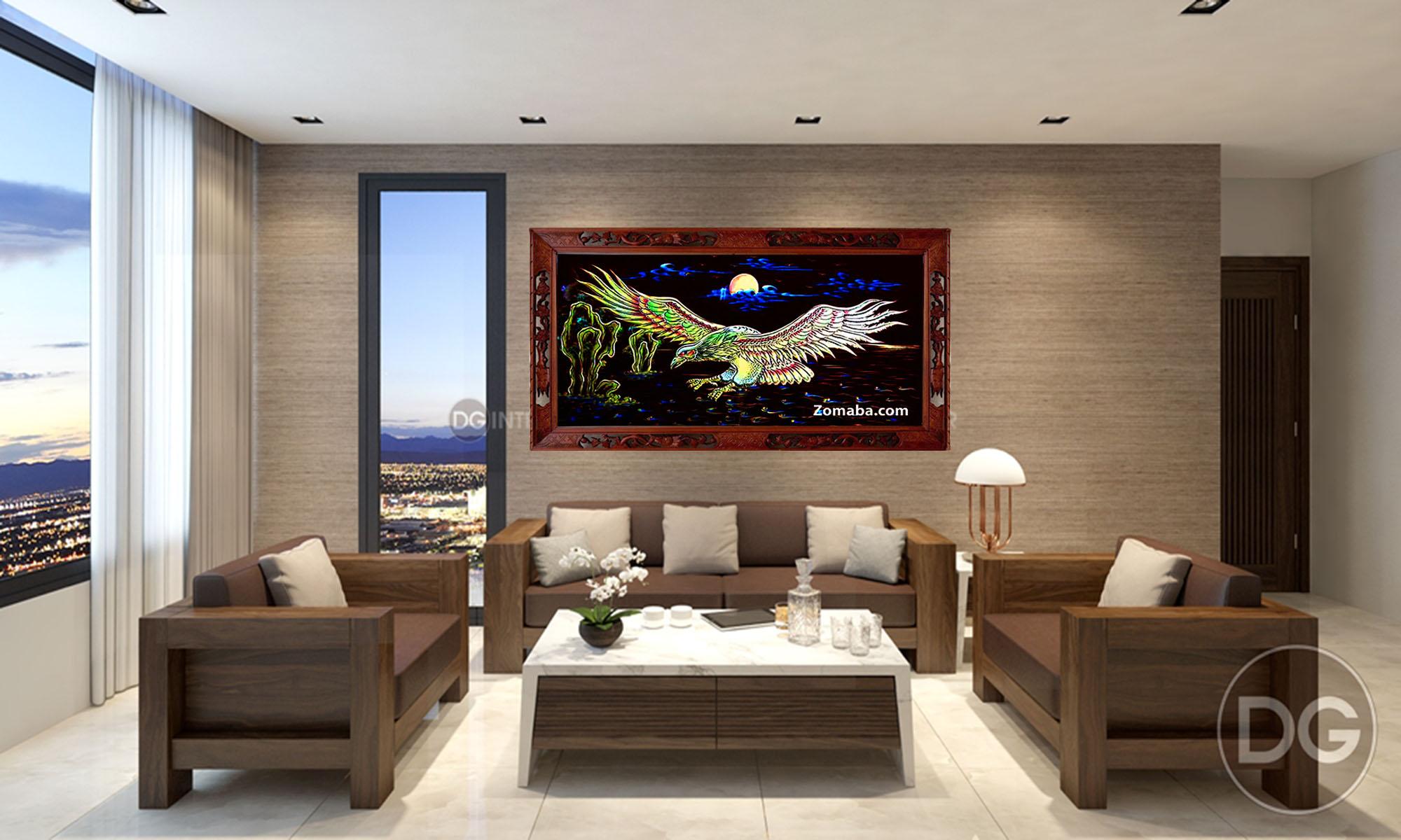 Tranh tặng tân gia nhà mới tphcm - Tranh sơn mài - Malanaz.com sale off 40%