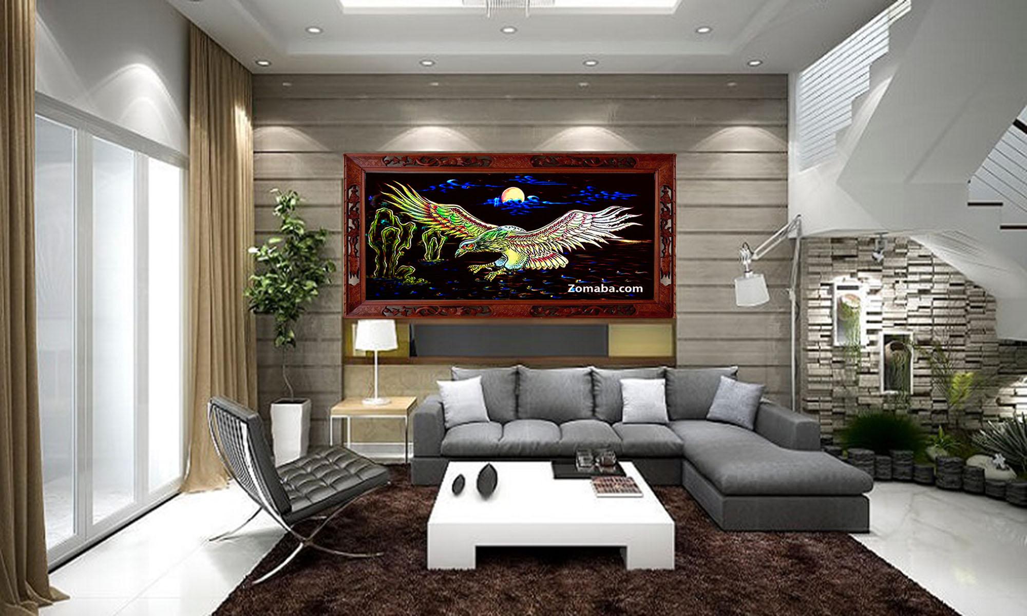 Tranh tặng tân gia nhà mới tphcm - Tranh sơn mài - Malanaz.com sale off 40% giao hàng trên toàn quốc