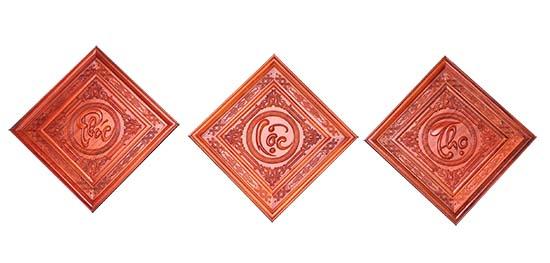 Tranh gỗ phuc lọc thọ sơn PU - PLT 02 - A