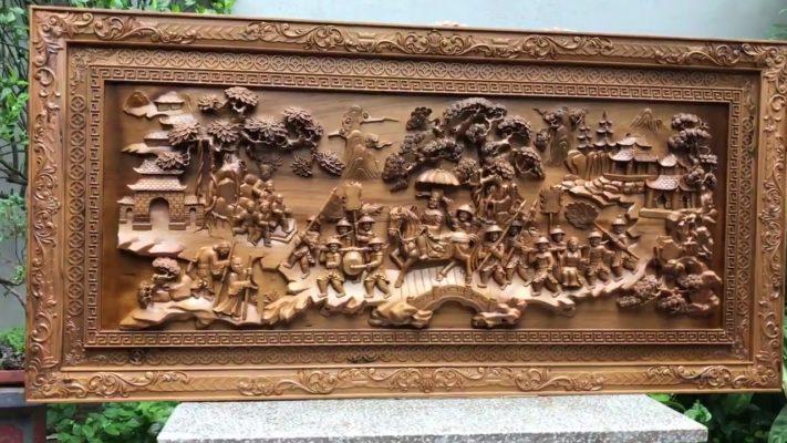 Tranh gỗ cao cấp - tranh gỗ vinh quy bái tổ gỗ bách xanh - Malanaz shopping sale 45% - trên toàn quốc