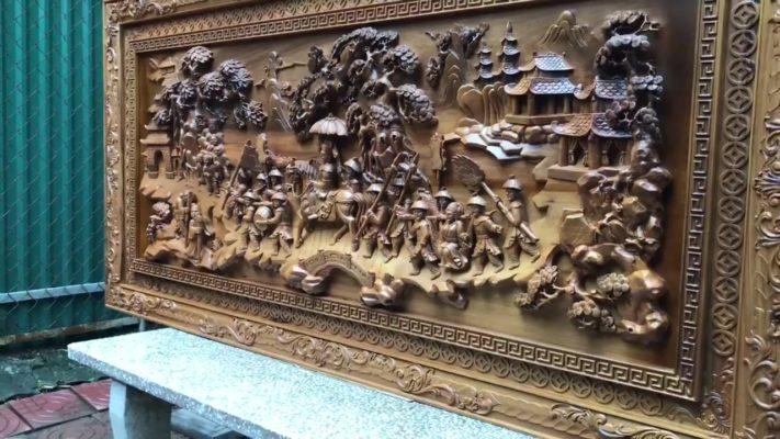Tranh gỗ cao cấp - tranh gỗ vinh quy bái tổ gỗ bách xanh - Malanaz shopping sale 45% - trên toàn quốc - tranh giá gốc