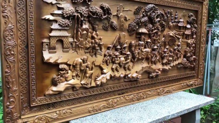 Tranh gỗ cao cấp - tranh gỗ vinh quy bái tổ gỗ bách xanh - Malanaz shopping sale 45% - trên toàn quốc - tranh giá gốc tại xưởng