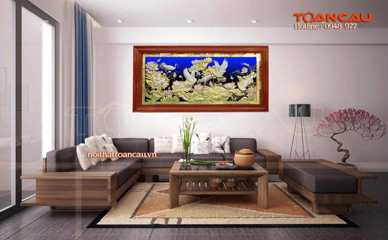 Đồ đồng phong thủy - Tranh đồng tùng hạc diêm niên - TH05 - Malanaz.com sale off 50% trên toàn quốc