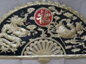 tranh đồng treo phòng khách - Tranh đồng long phượng LP02