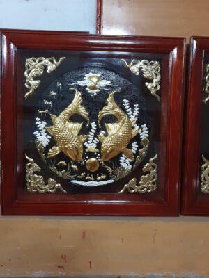 Tranh đồng cao cấp - Tranh đồng bộ ba 80 x 80 cm - B01A - Malanaz Shopping