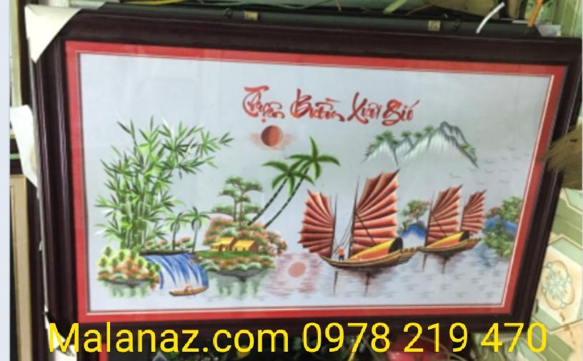 TRANH TANG NHA TRUONG - TRANH THEU TAY - MALANAZ