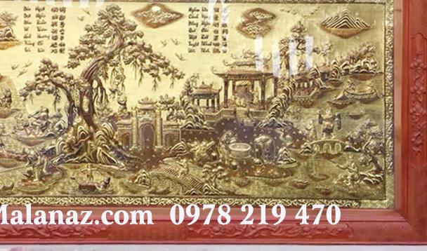 Tranh đồng cao cấp tphcm giá tốt giao hàng nhanh - Tranh đồng quê - DQ15