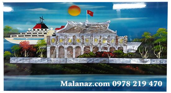 Tranh sơn mài cao cấp Hà Nội - Phong cảnh Nhà Rồng - NR02A