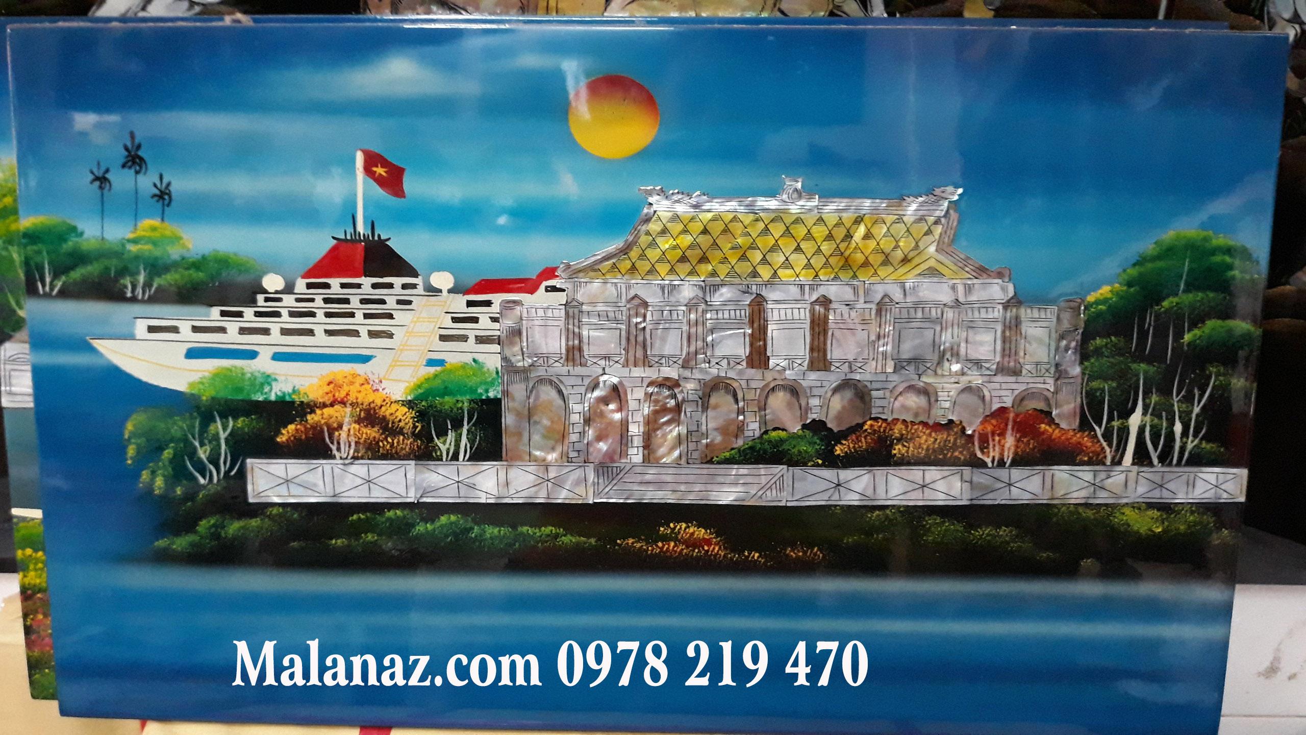 Tranh sơn mài cao cấp treo phòng khách - Malanaz Shopping