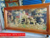Tranh đồng cao cấp tphcm - Tranh đồng cá chép hóa rồng -DCC01