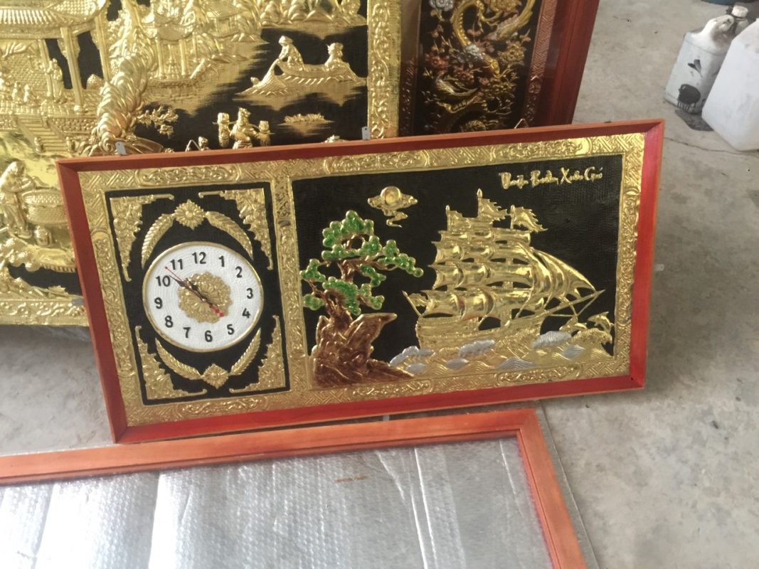Tranh bằng đồng giá bao nhiêu - Tranh thuận buồm - DTB17AB