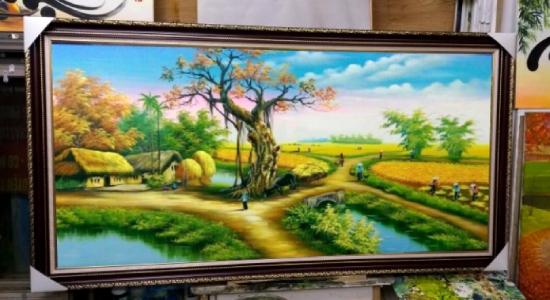Tranh sơn dầu tphcm - Tranh đồng quê - SDQ02A