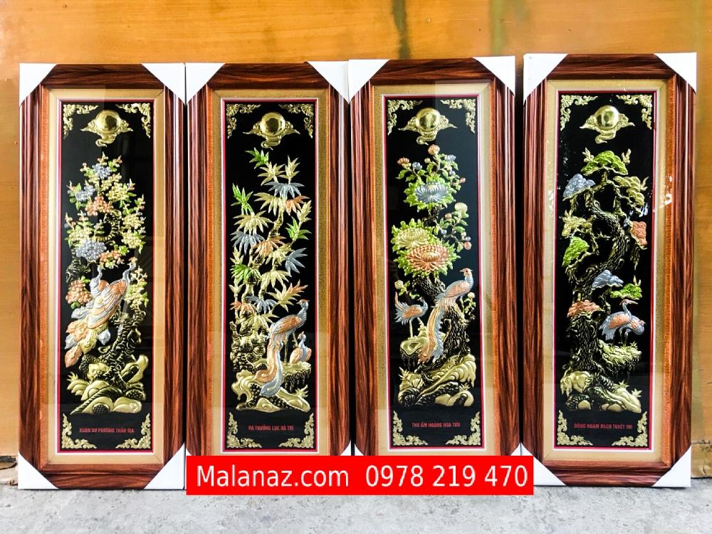 Tranh đồng cao cấp - tranh tứ quý bốn mùa - Malanaz Shopping - Sale off
