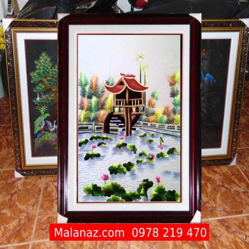 Tranh thêu Tay Hà Nội - Tranh Chùa Một Cột TCM01