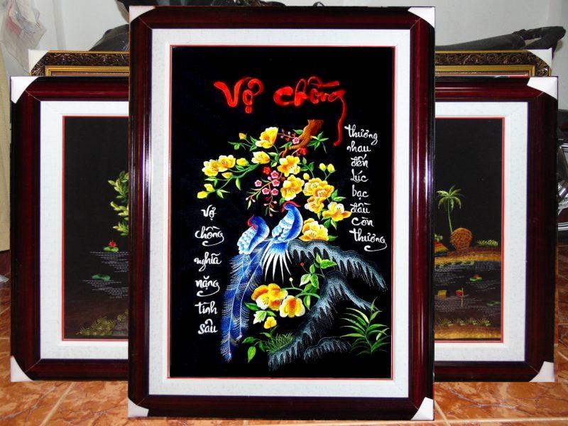 Tranh thêu tay cao cấp Xứ Huế - Tranh Vợ Chồng - TVC01