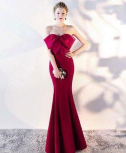 Đầm Dạ Hội STYLES Hàn Quốc - Nơ Cúp Ngực Quí Phái - DPN13