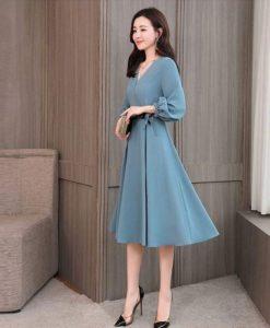Đầm Styles Hàn Quốc - Đầm Xanh Dự Tiệc Vintage Sang Trọng - DPN07BC
