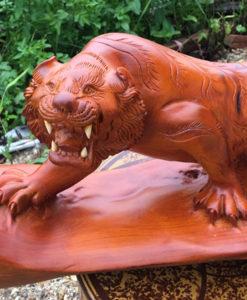 Đồ gỗ mỹ nghệ cao cấp - hổ phong thuỷ ngang 48 sâu 17 cao 22 - A