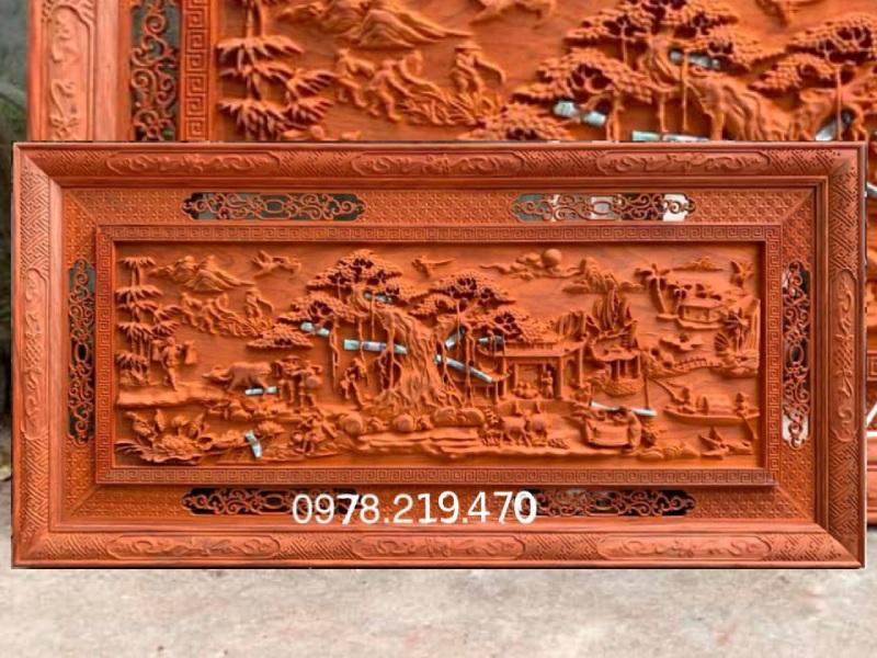 Mua tranh gỗ ở đâu - Tranh gỗ đồng quê - GDQ03 Malanaz Shopping Giao hàng tàn quốc