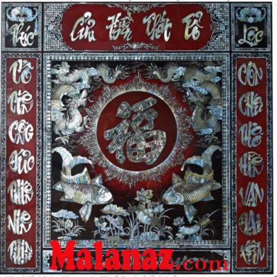 Liễng Cửu Huyền Thất Tổ sơn mài cao cấp xà cừ- MD11 Malanaz Shopping