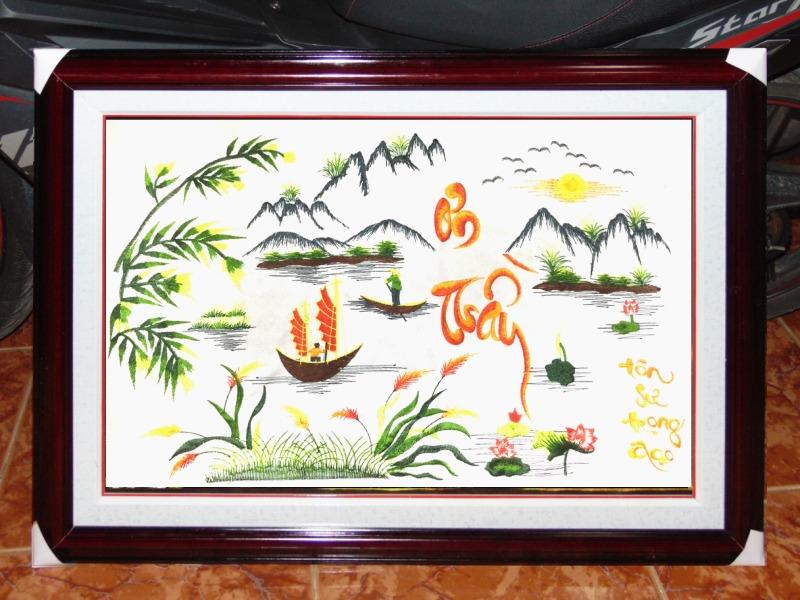 Tranh Thêu Tay Tặng Trường - TLH04A