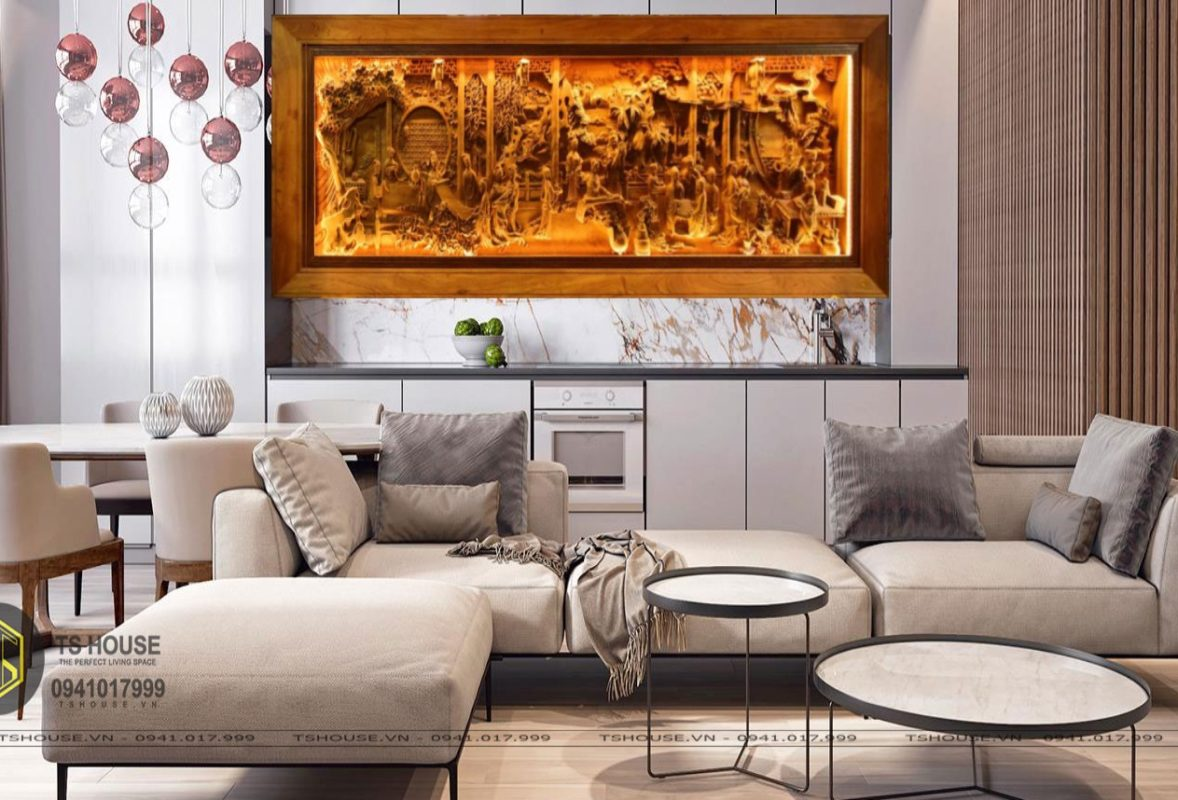 Tranh gỗ đồng quê - GDQ04 - Malanaz Shopping