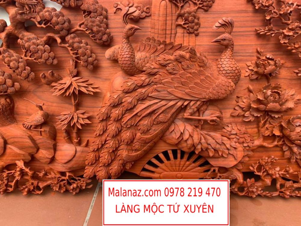 Tranh gỗ cao cấp - Phu Thê Viên Mãn - GPT01B - Tranh gỗ đục tay
