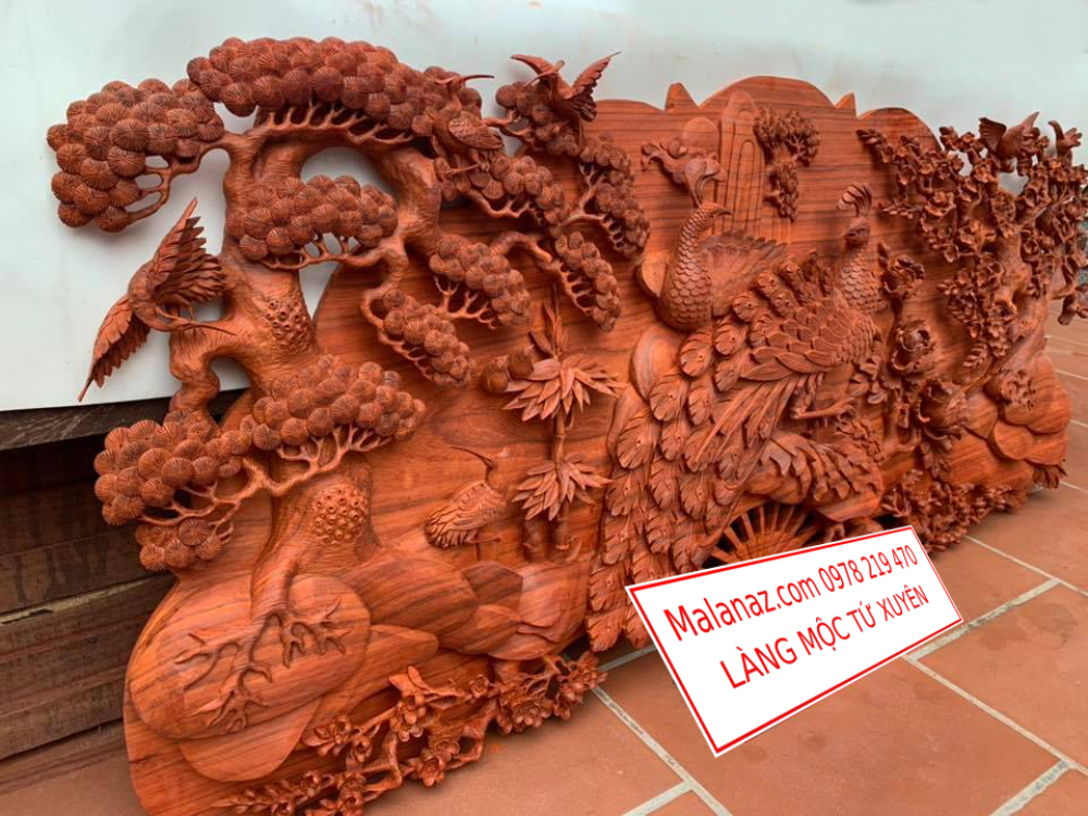 Tranh gỗ cao cấp - Phu Thê Viên Mãn - GPT01B