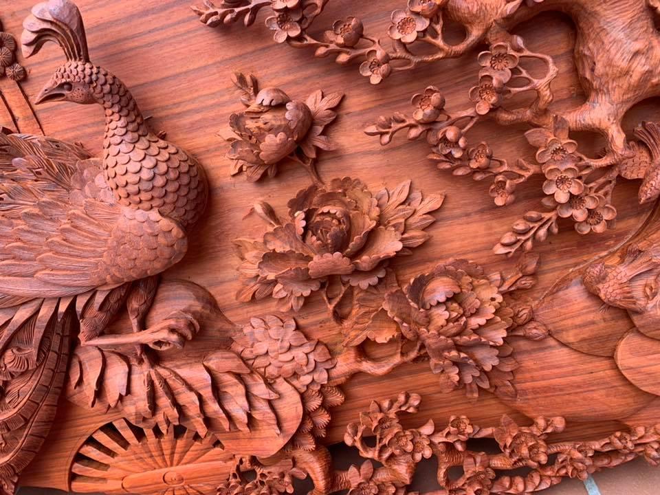 Tranh gỗ cao cấp - Phu Thê Viên Mãn - GPT01CT
