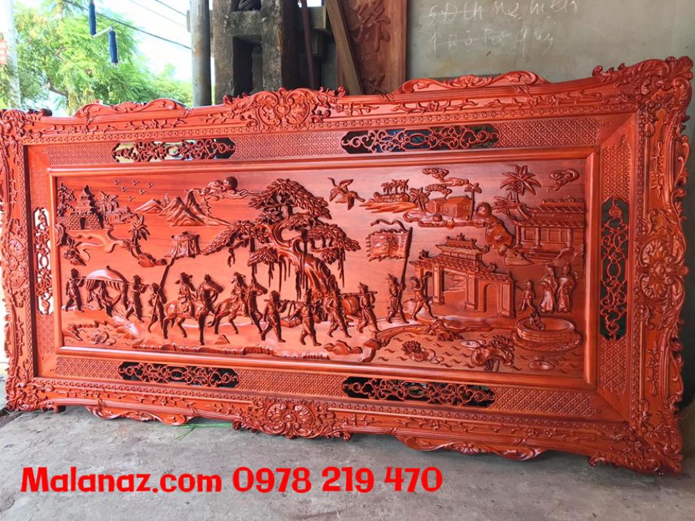 Tranh gỗ cao cấp - tranh vinh qui bái tổ - GVQ03A - Malanaz Shopping