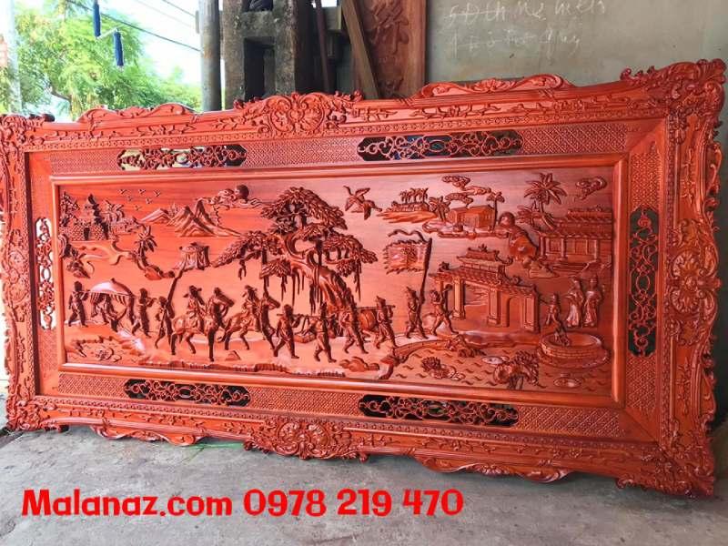 Tranh gỗ cao cấp - tranh vinh qui bái tổ - GVQ03 (2)